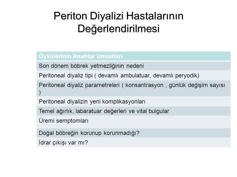 Periton Diyalizi Hastalarının Değerlendirilmesi
