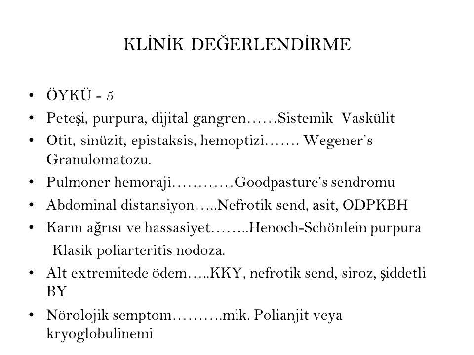 KLİNİK DEĞERLENDİRME ÖYKÜ - 5