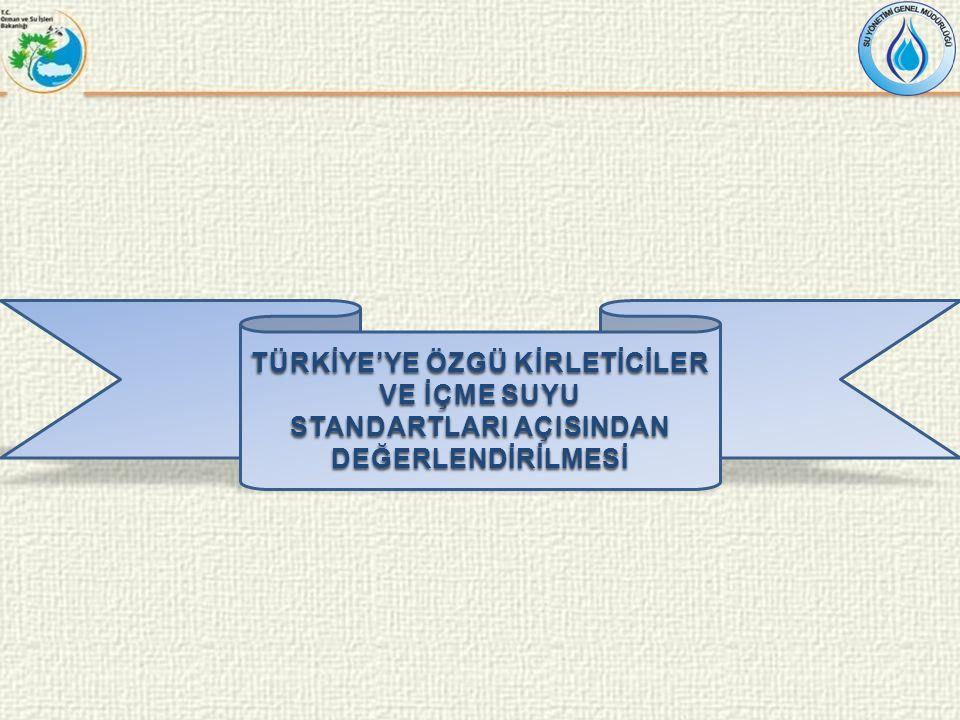 TÜRKİYE'YE ÖZGÜ KİRLETİCİLER VE İÇME SUYU
