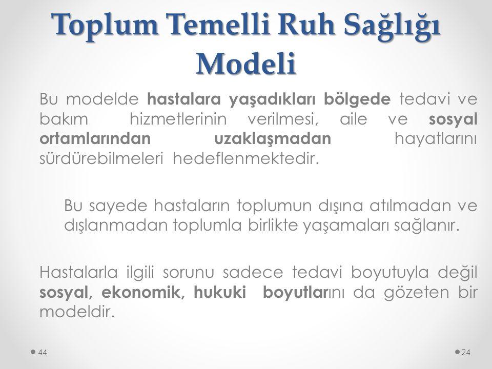 Toplum Temelli Ruh Sağlığı Modeli