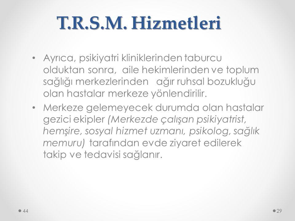 T.R.S.M. Hizmetleri