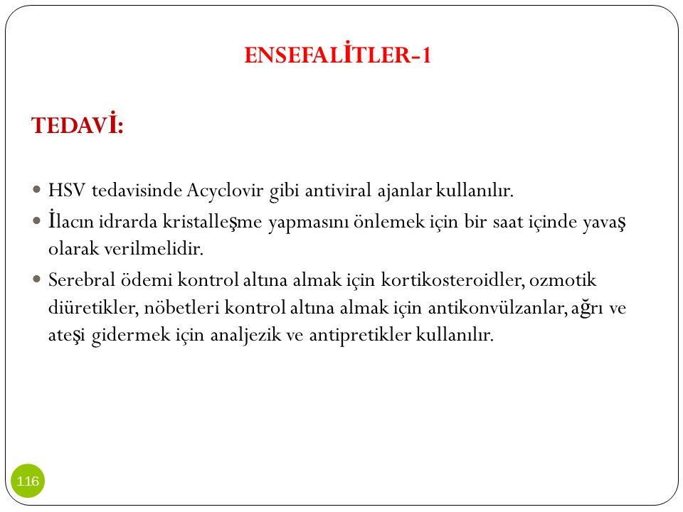 ENSEFALİTLER-1 TEDAVİ: