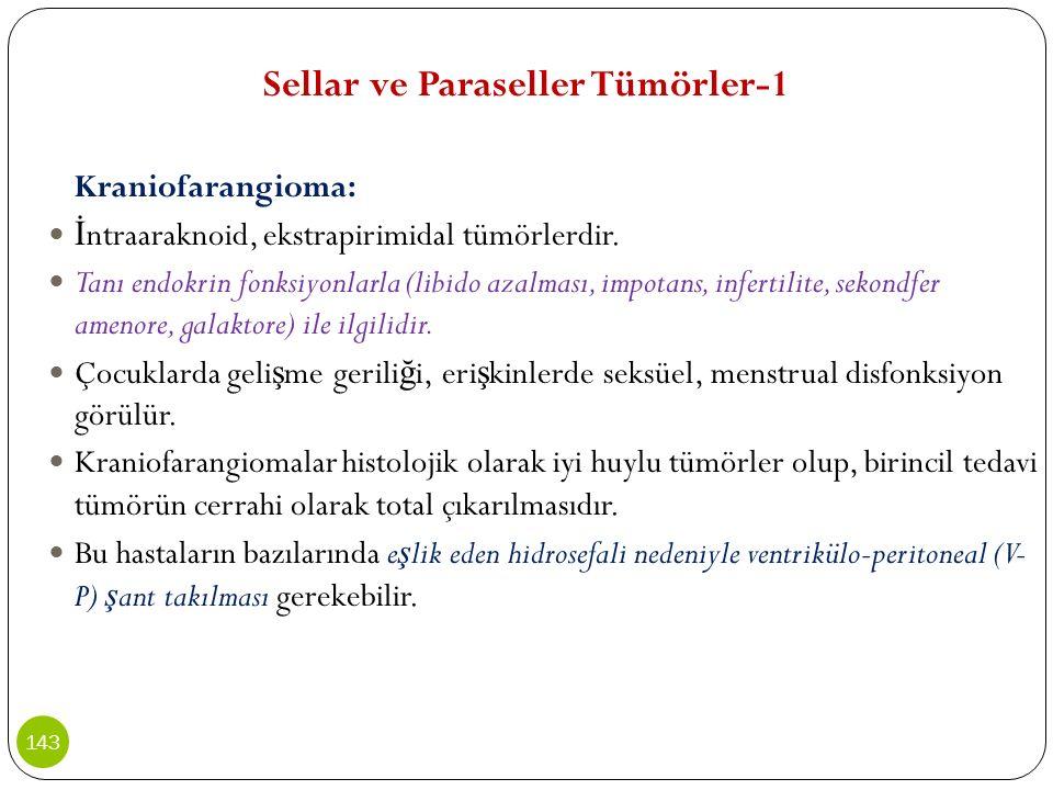 Sellar ve Paraseller Tümörler-1