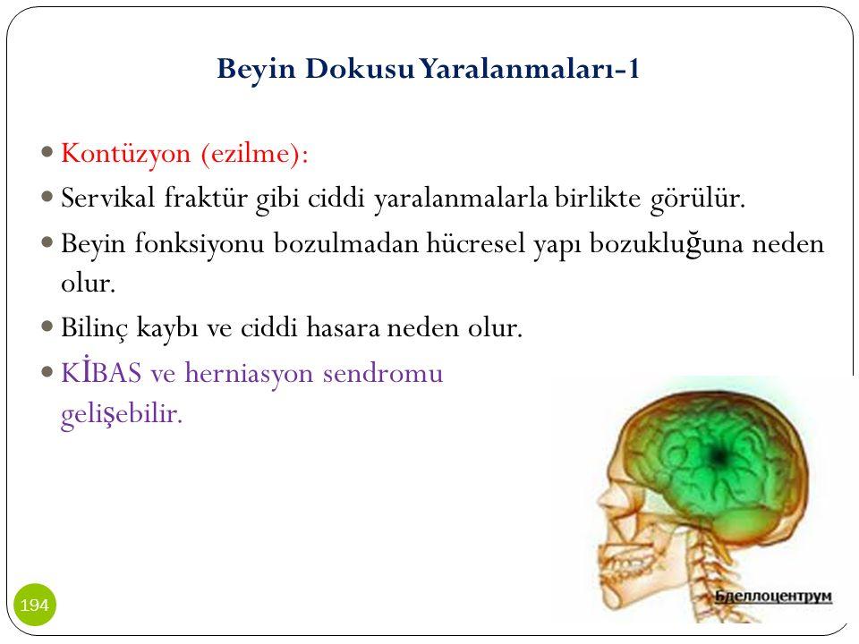 Beyin Dokusu Yaralanmaları-1