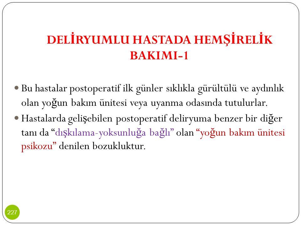 DELİRYUMLU HASTADA HEMŞİRELİK BAKIMI-1