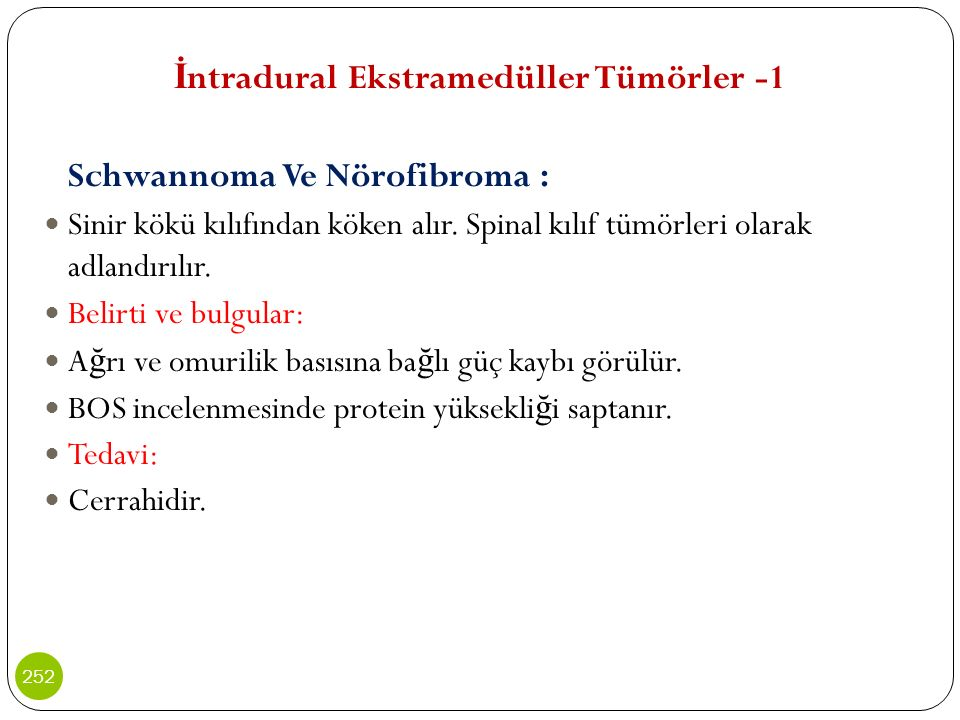 İntradural Ekstramedüller Tümörler -1