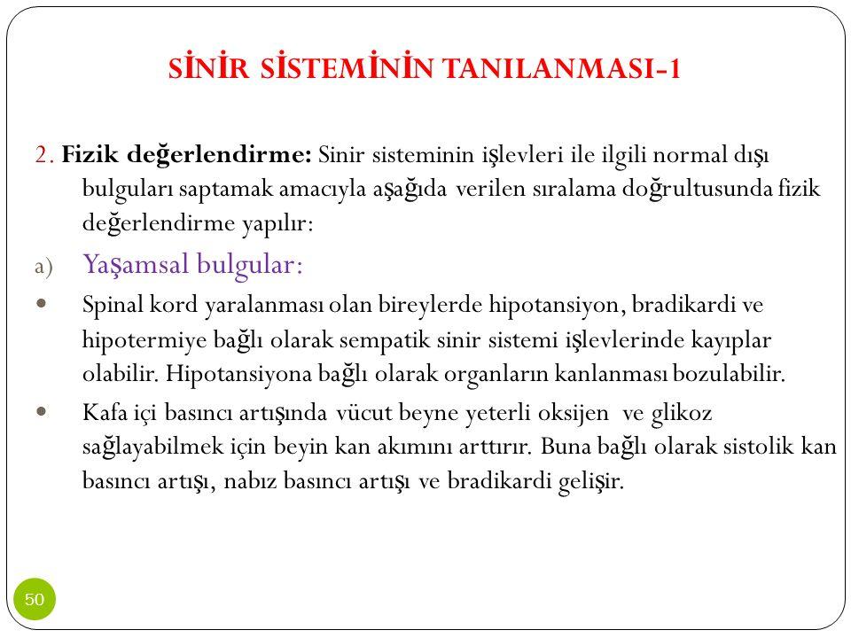 SİNİR SİSTEMİNİN TANILANMASI-1