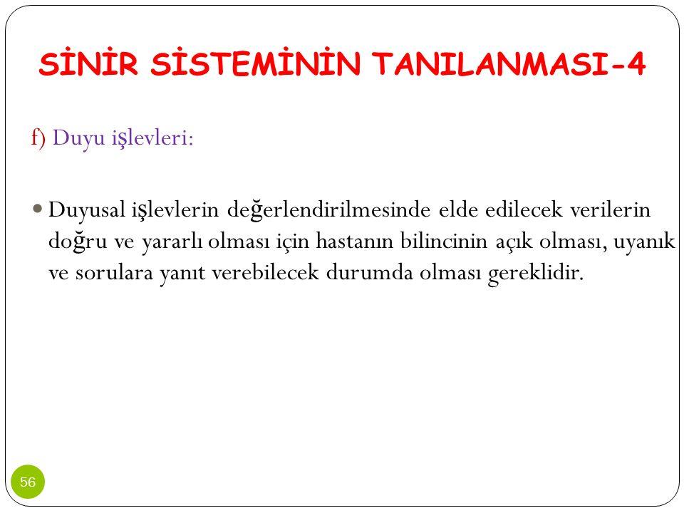 SİNİR SİSTEMİNİN TANILANMASI-4