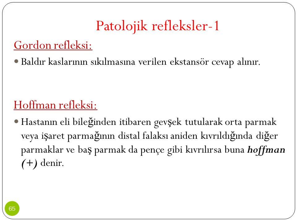 Patolojik refleksler-1