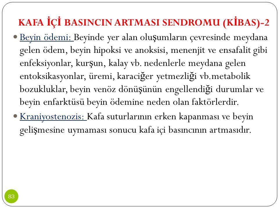 KAFA İÇİ BASINCIN ARTMASI SENDROMU (KİBAS)-2