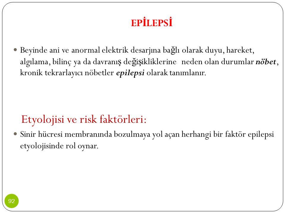 Etyolojisi ve risk faktörleri: