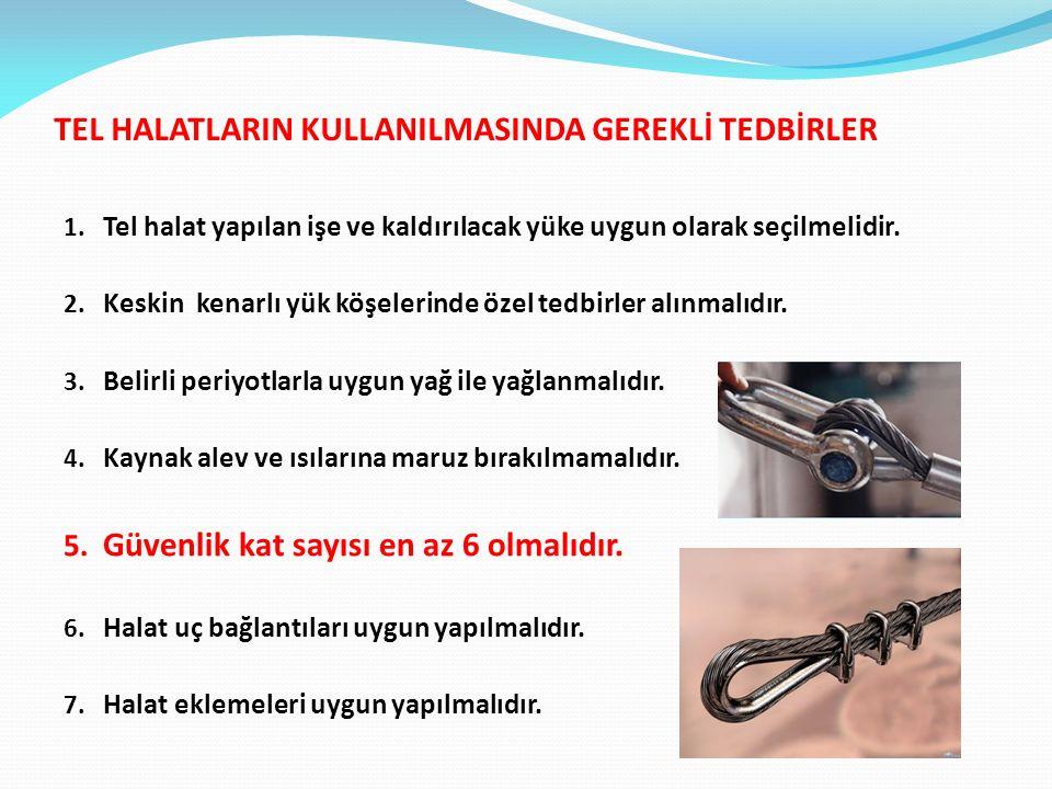 TEL HALATLARIN KULLANILMASINDA GEREKLİ TEDBİRLER