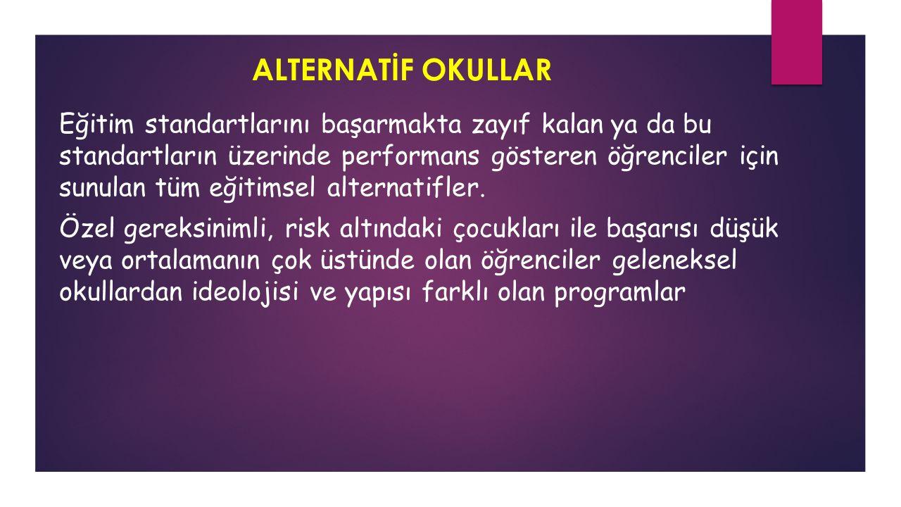 ALTERNATİF OKULLAR