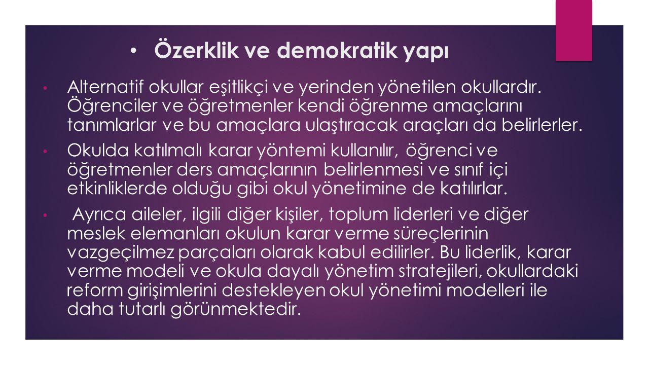 Özerklik ve demokratik yapı