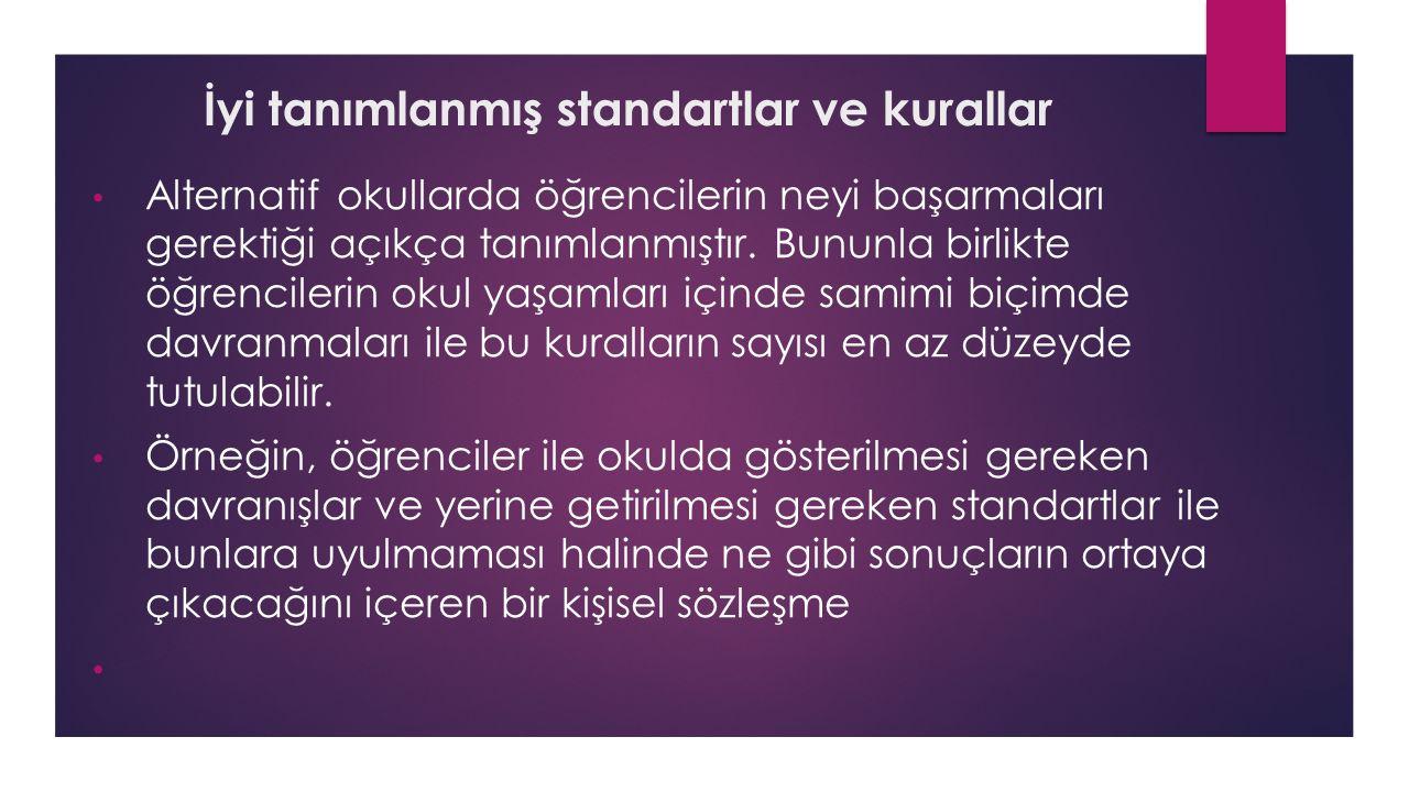 İyi tanımlanmış standartlar ve kurallar
