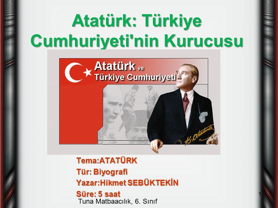 Atatürk: Türkiye Cumhuriyeti nin Kurucusu