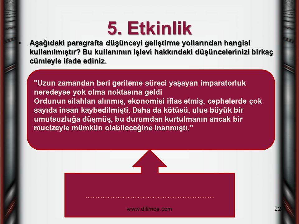 5. Etkinlik