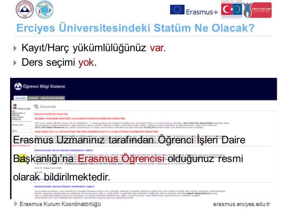 Erciyes Üniversitesindeki Statüm Ne Olacak