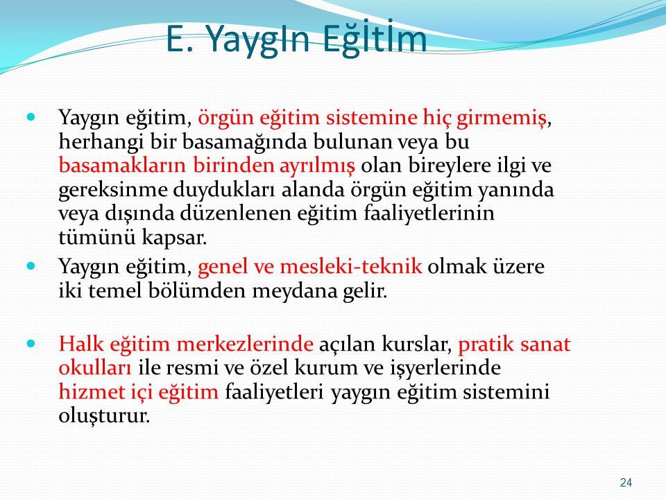 E. YaygIn Eğİtİm