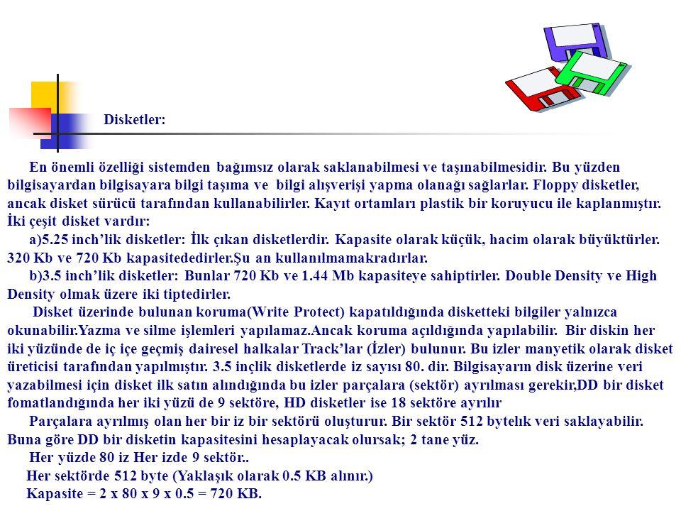 Disketler: