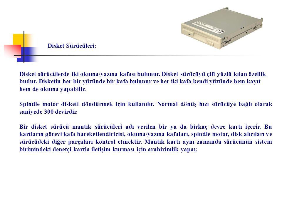 Disket Sürücüleri: