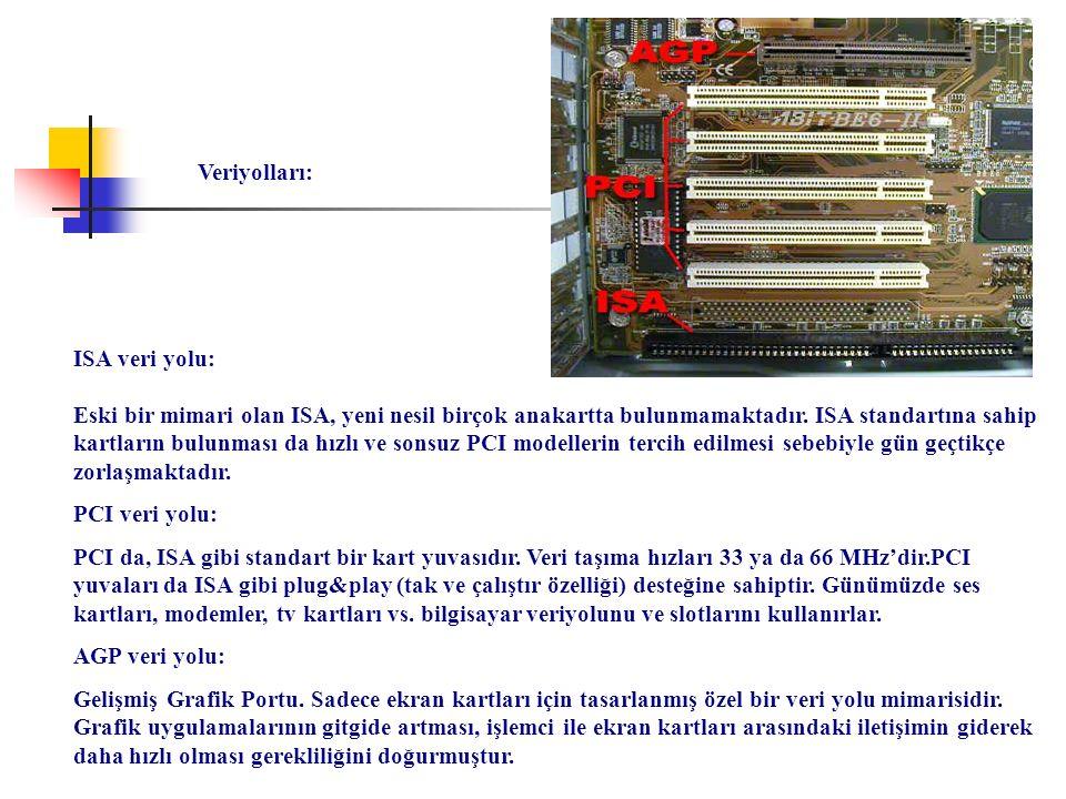 Veriyolları: ISA veri yolu: