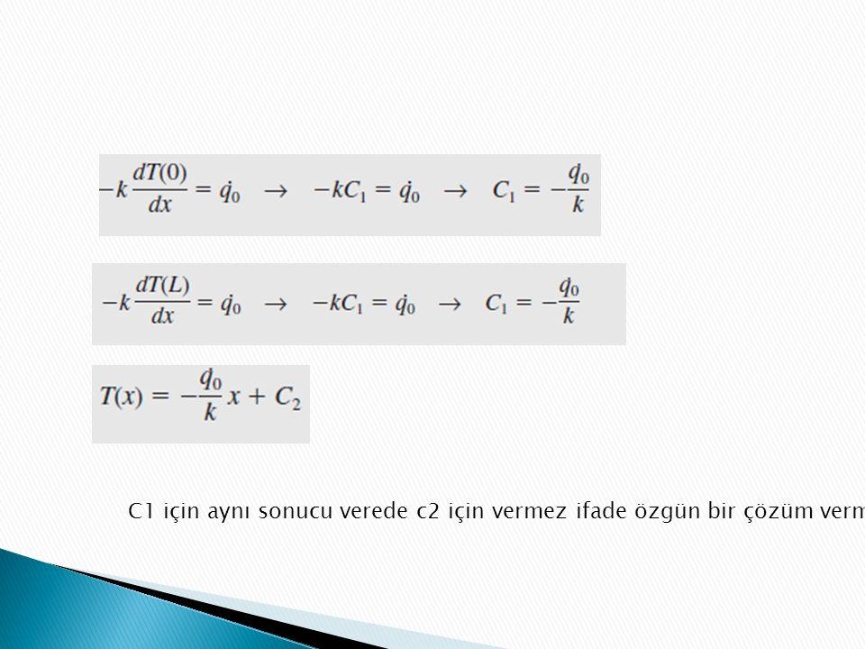 C1 için aynı sonucu verede c2 için vermez ifade özgün bir çözüm vermez