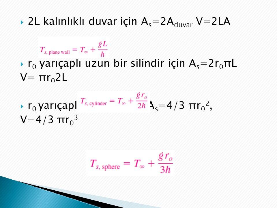 2L kalınlıklı duvar için As=2Aduvar V=2LA