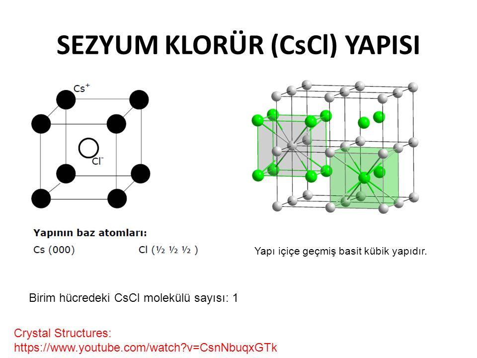 SEZYUM KLORÜR (CsCl) YAPISI