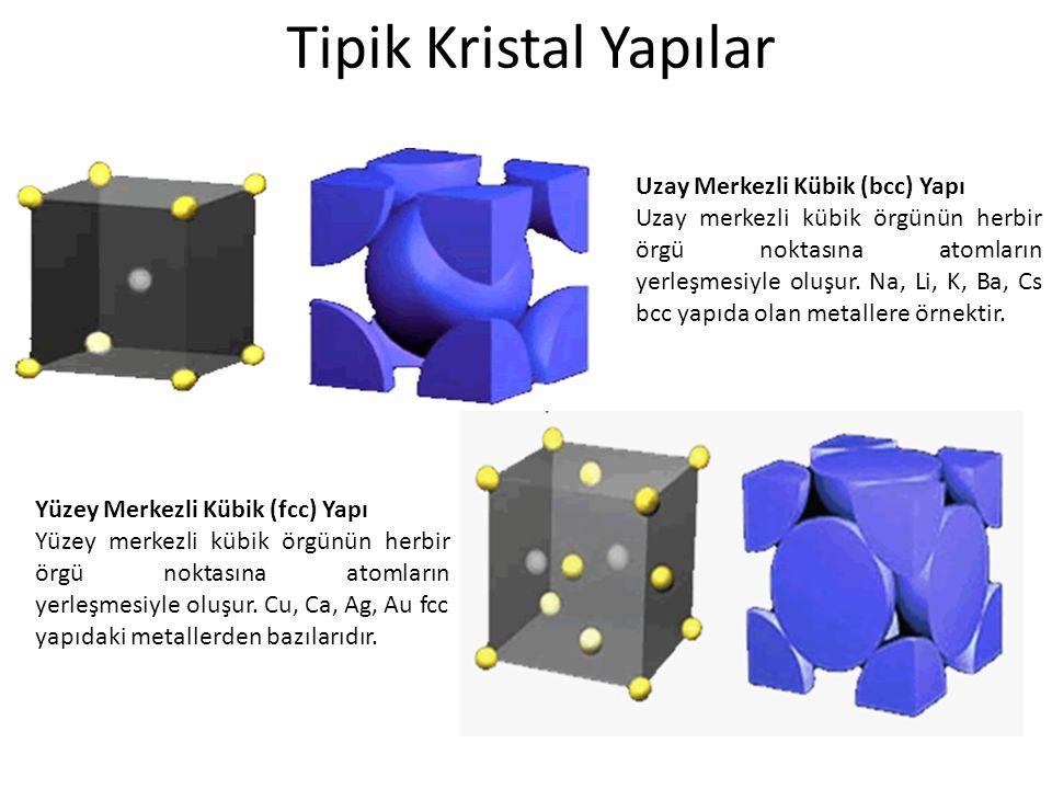 Tipik Kristal Yapılar Uzay Merkezli Kübik (bcc) Yapı