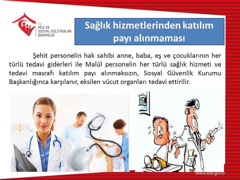 Sağlık hizmetlerinden katılım payı alınmaması