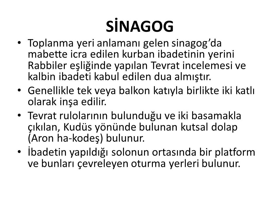 SİNAGOG