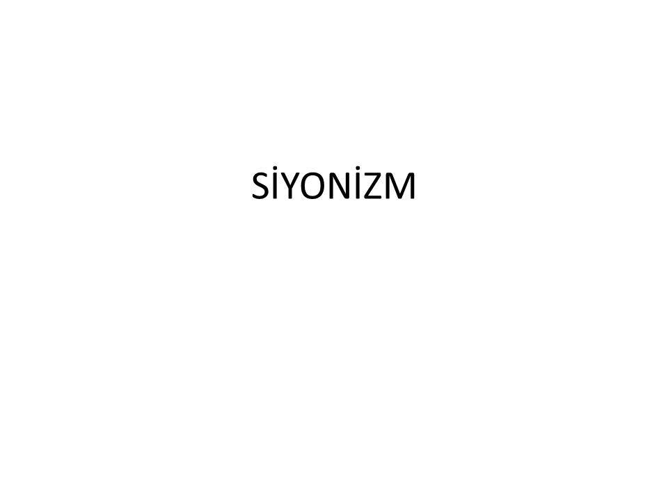 SİYONİZM