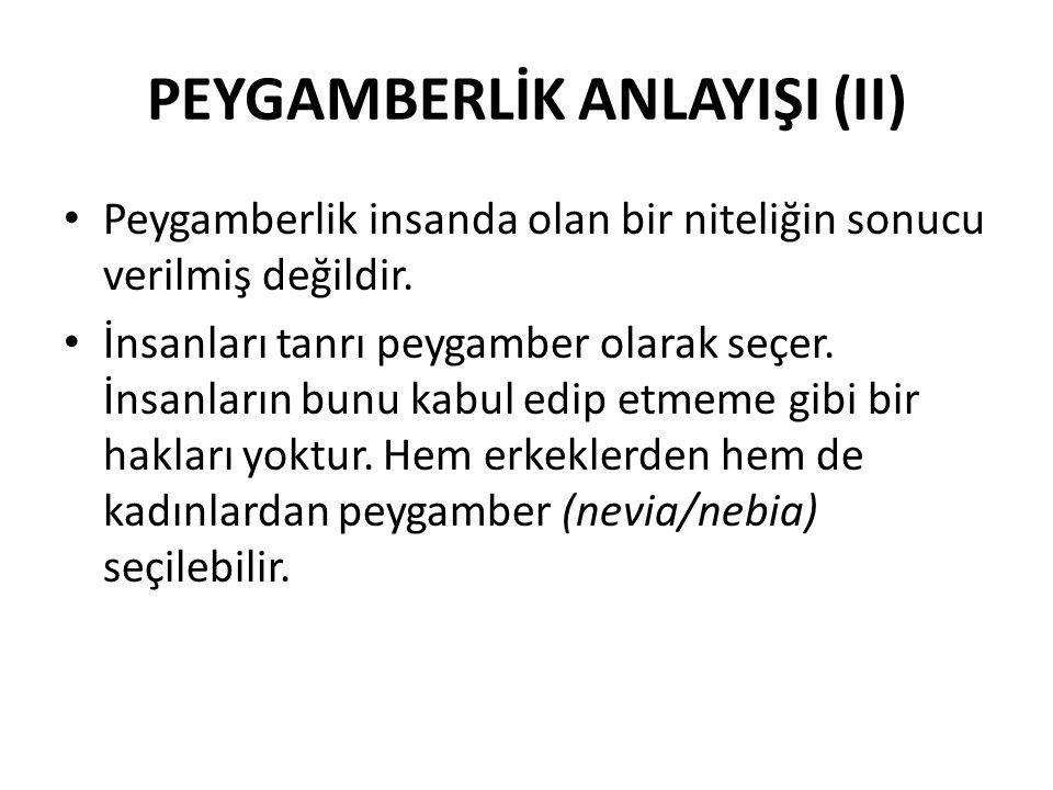 PEYGAMBERLİK ANLAYIŞI (II)