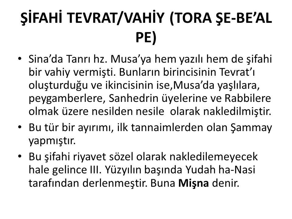 ŞİFAHİ TEVRAT/VAHİY (TORA ŞE-BE'AL PE)