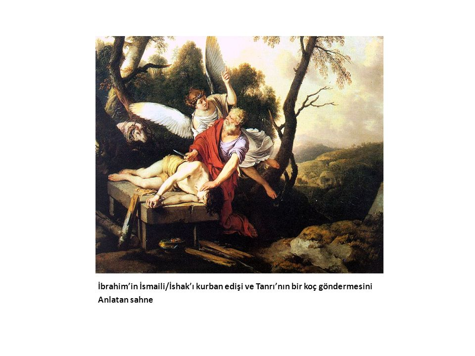 İbrahim'in İsmaili/İshak'ı kurban edişi ve Tanrı'nın bir koç göndermesini