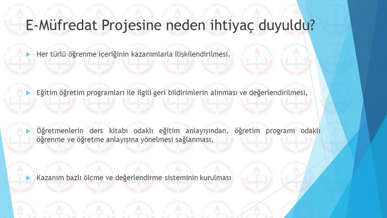 E-Müfredat Projesine neden ihtiyaç duyuldu