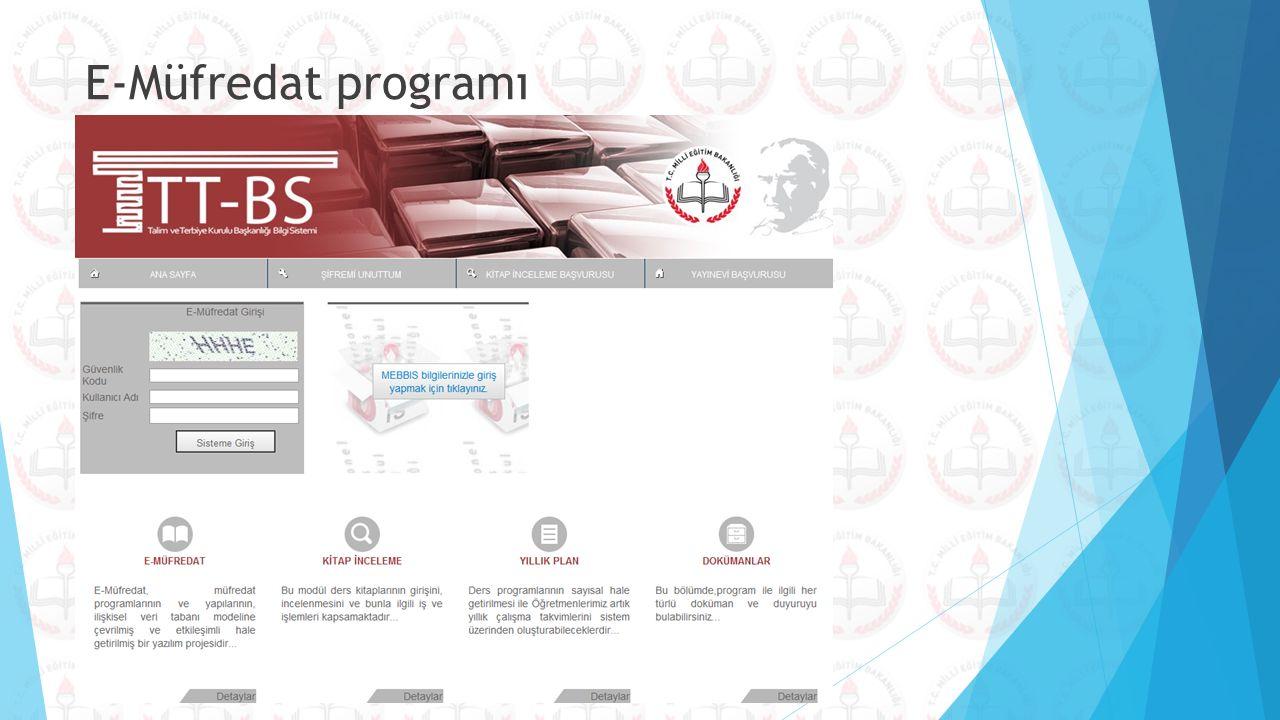 E-Müfredat programı