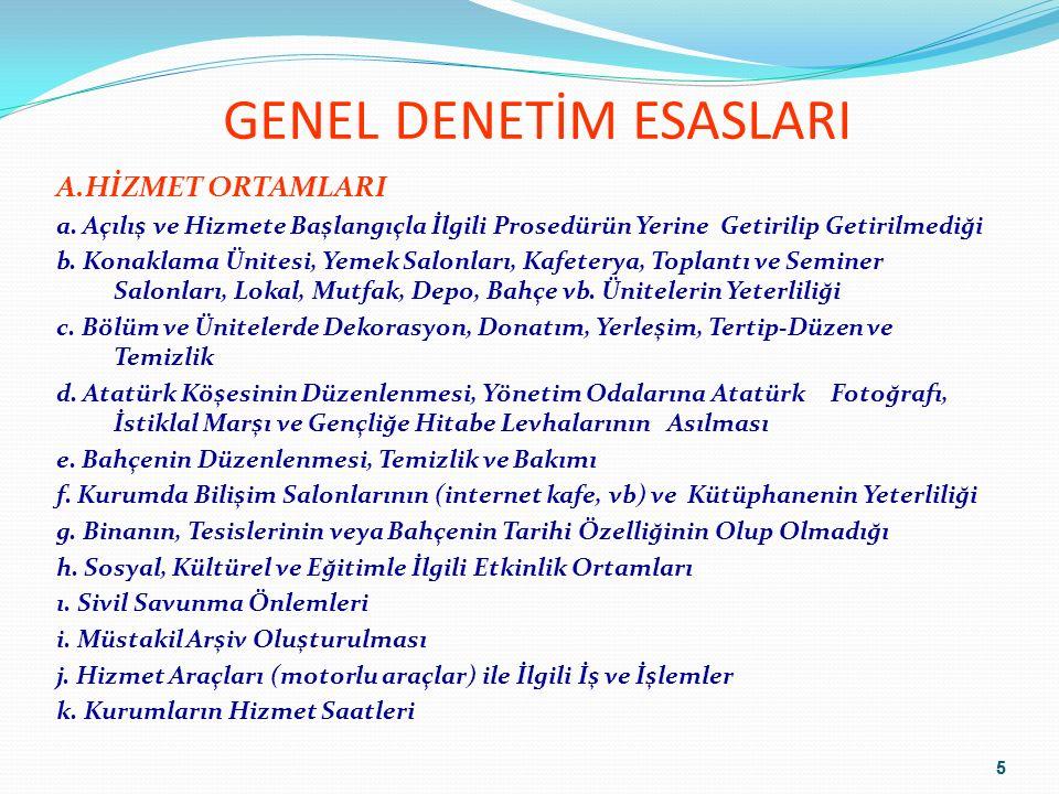GENEL DENETİM ESASLARI