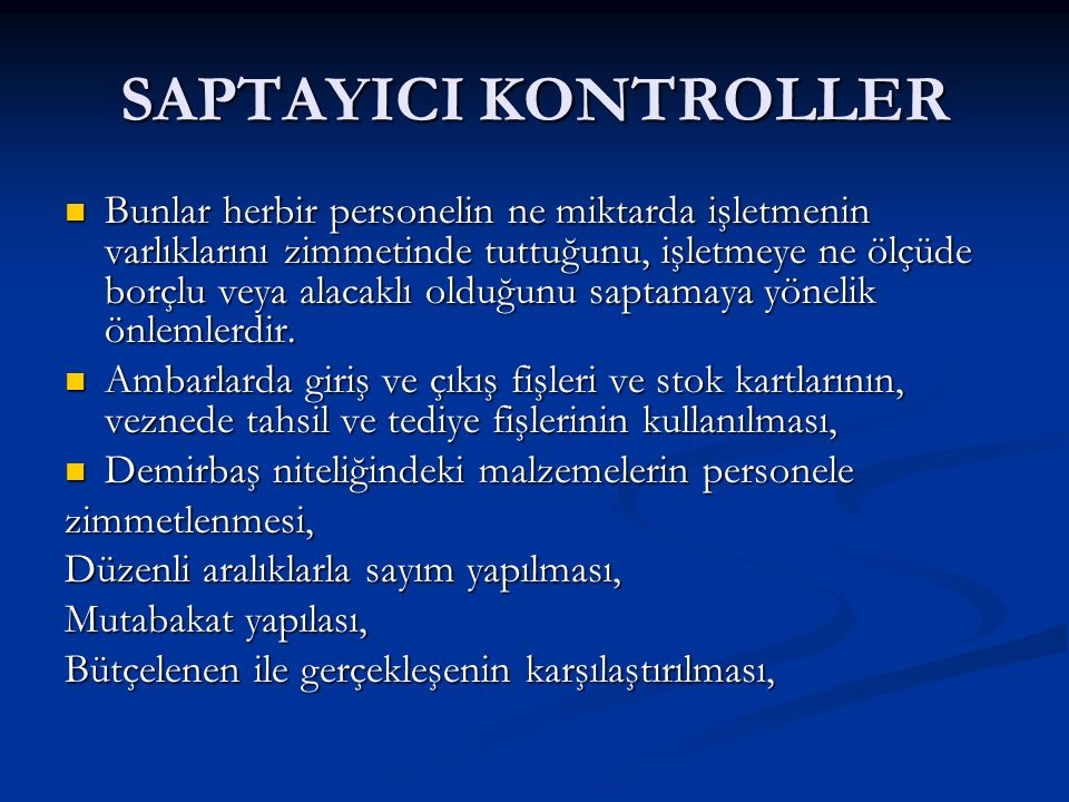 SAPTAYICI KONTROLLER