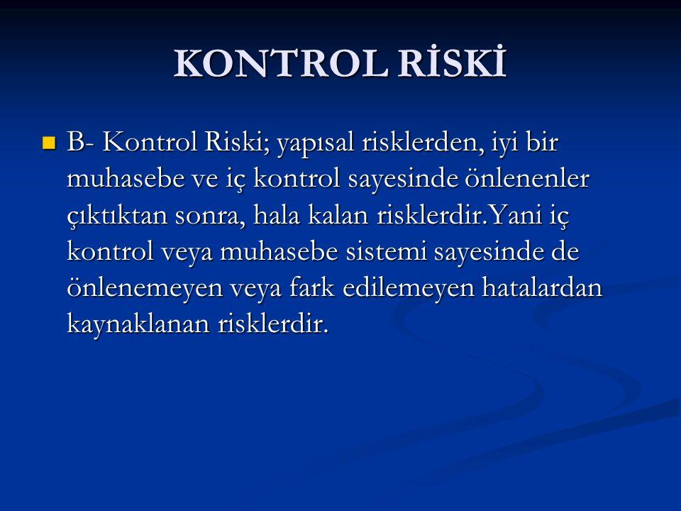 KONTROL RİSKİ