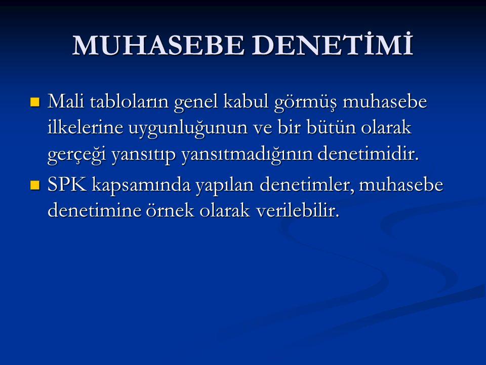 MUHASEBE DENETİMİ