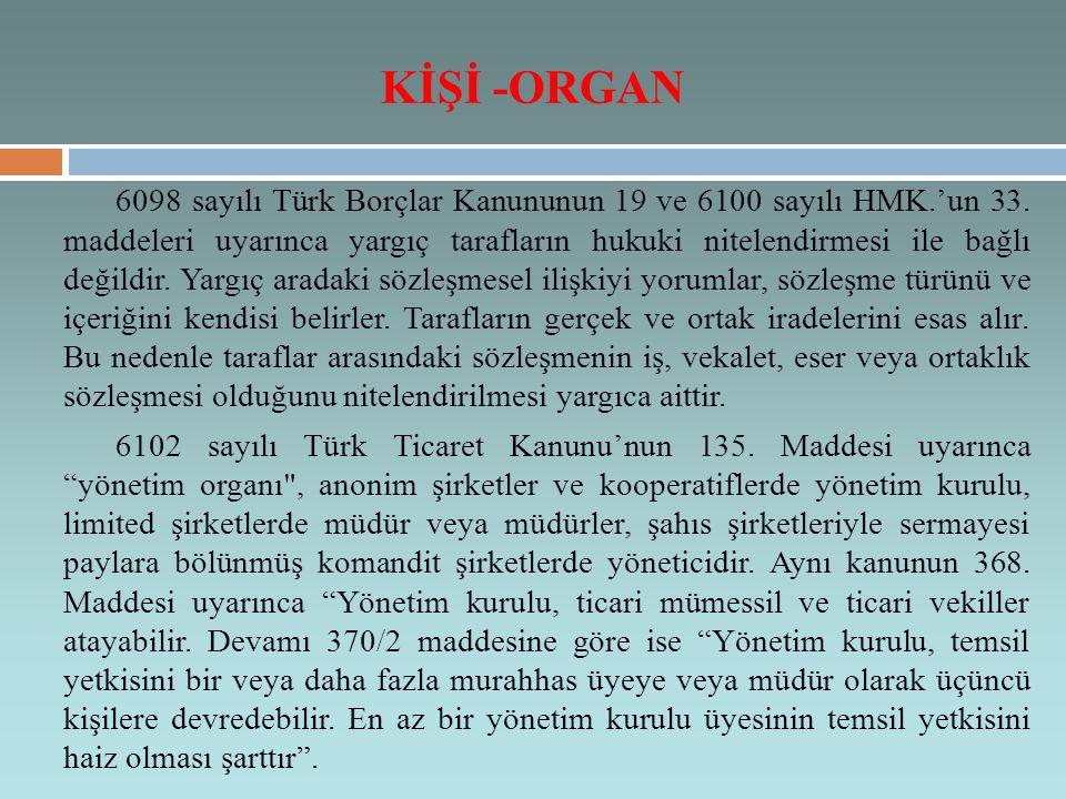 KİŞİ -ORGAN