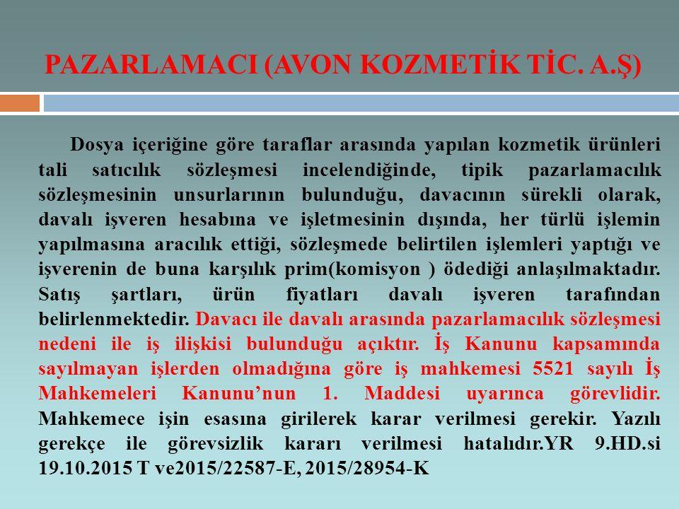 PAZARLAMACI (AVON KOZMETİK TİC. A.Ş)