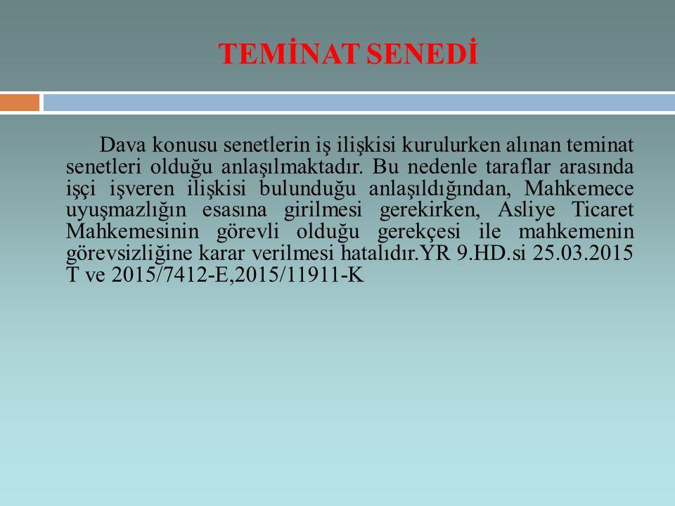 TEMİNAT SENEDİ