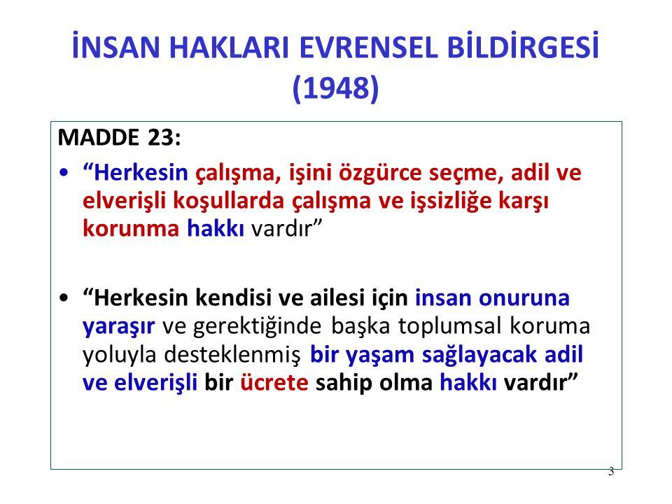 İNSAN HAKLARI EVRENSEL BİLDİRGESİ (1948)