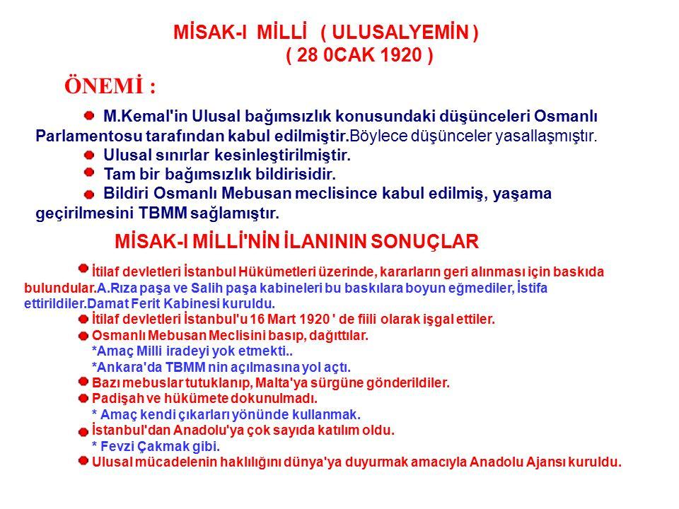 MİSAK-I MİLLİ ( ULUSALYEMİN )