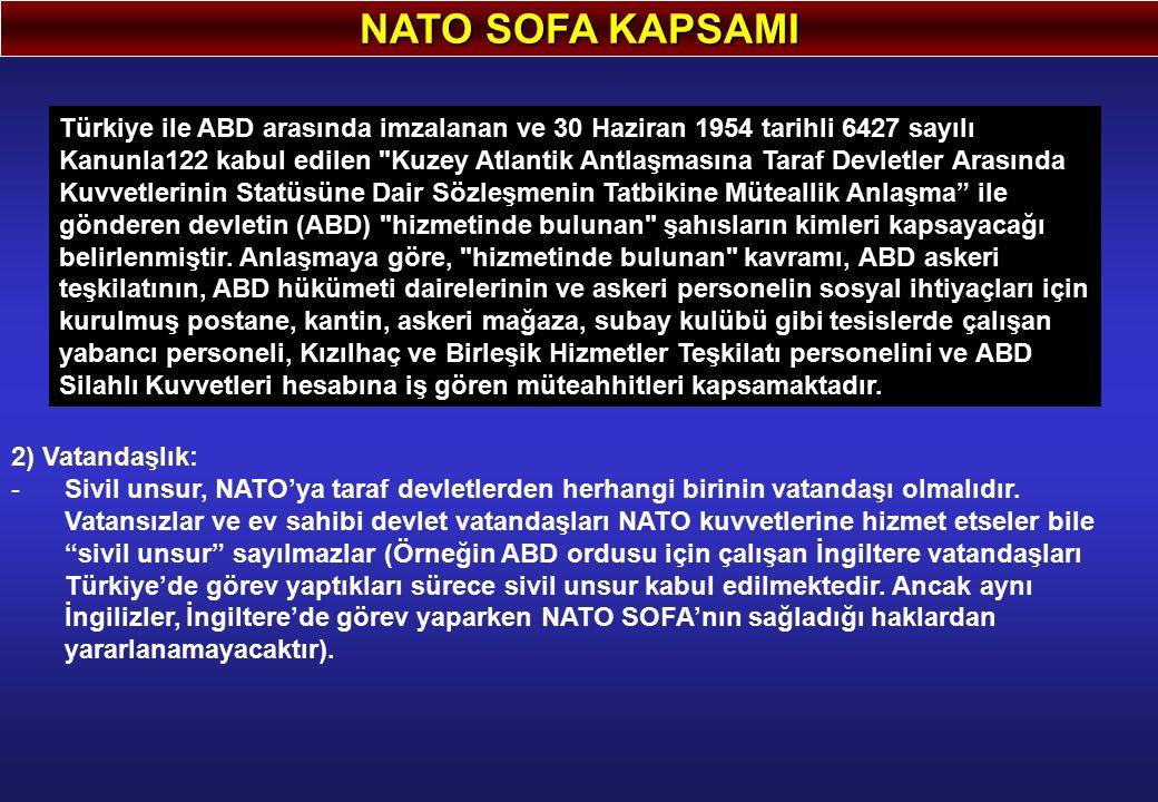 NATO SOFA KAPSAMI
