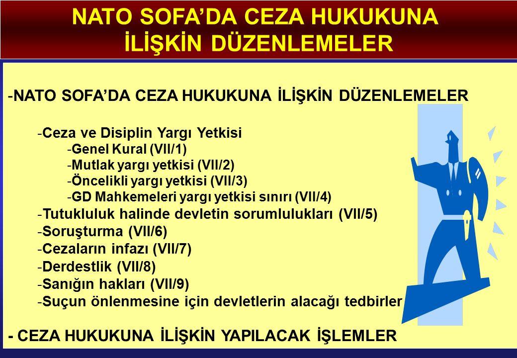 NATO SOFA'DA CEZA HUKUKUNA