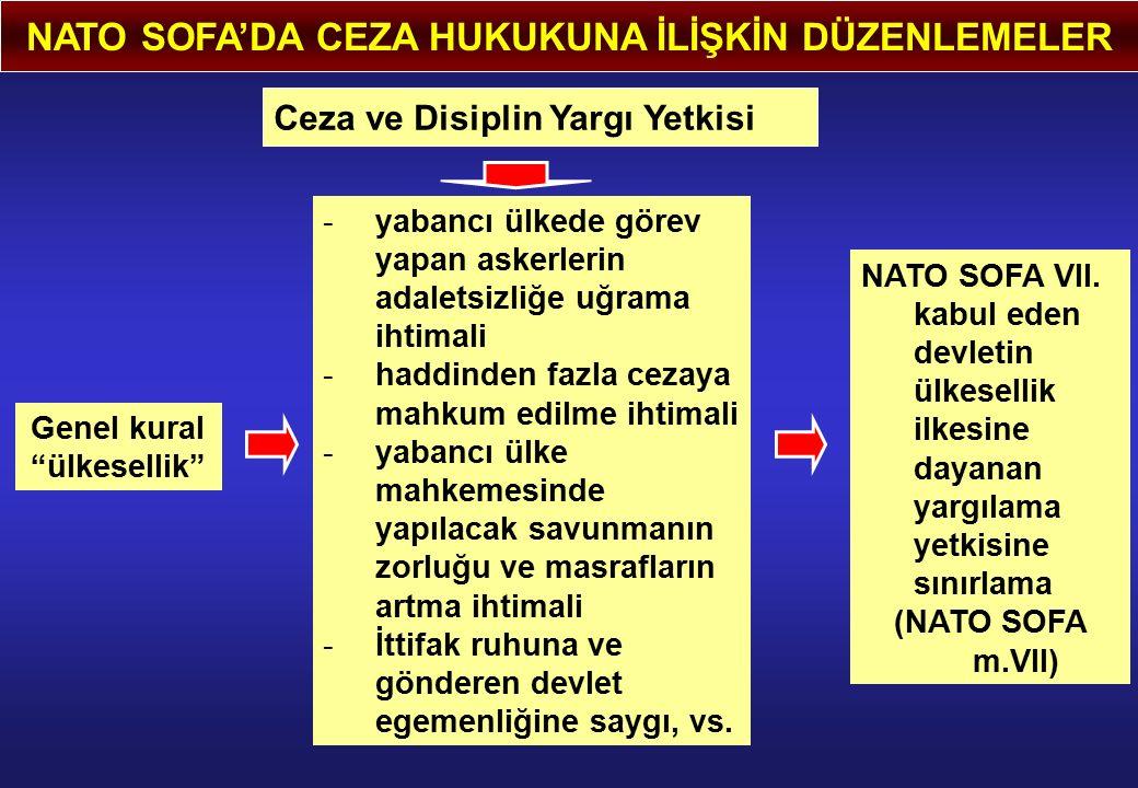 NATO SOFA'DA CEZA HUKUKUNA İLİŞKİN DÜZENLEMELER